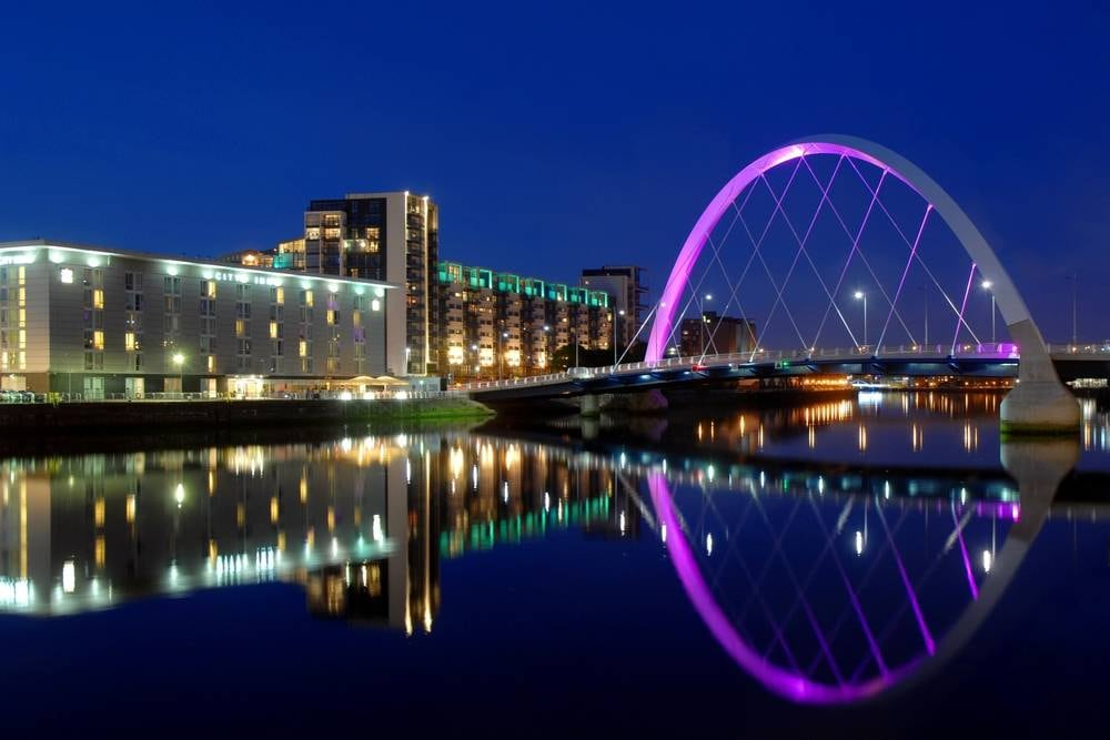 Clyde Arc in Glasgow, Scotland