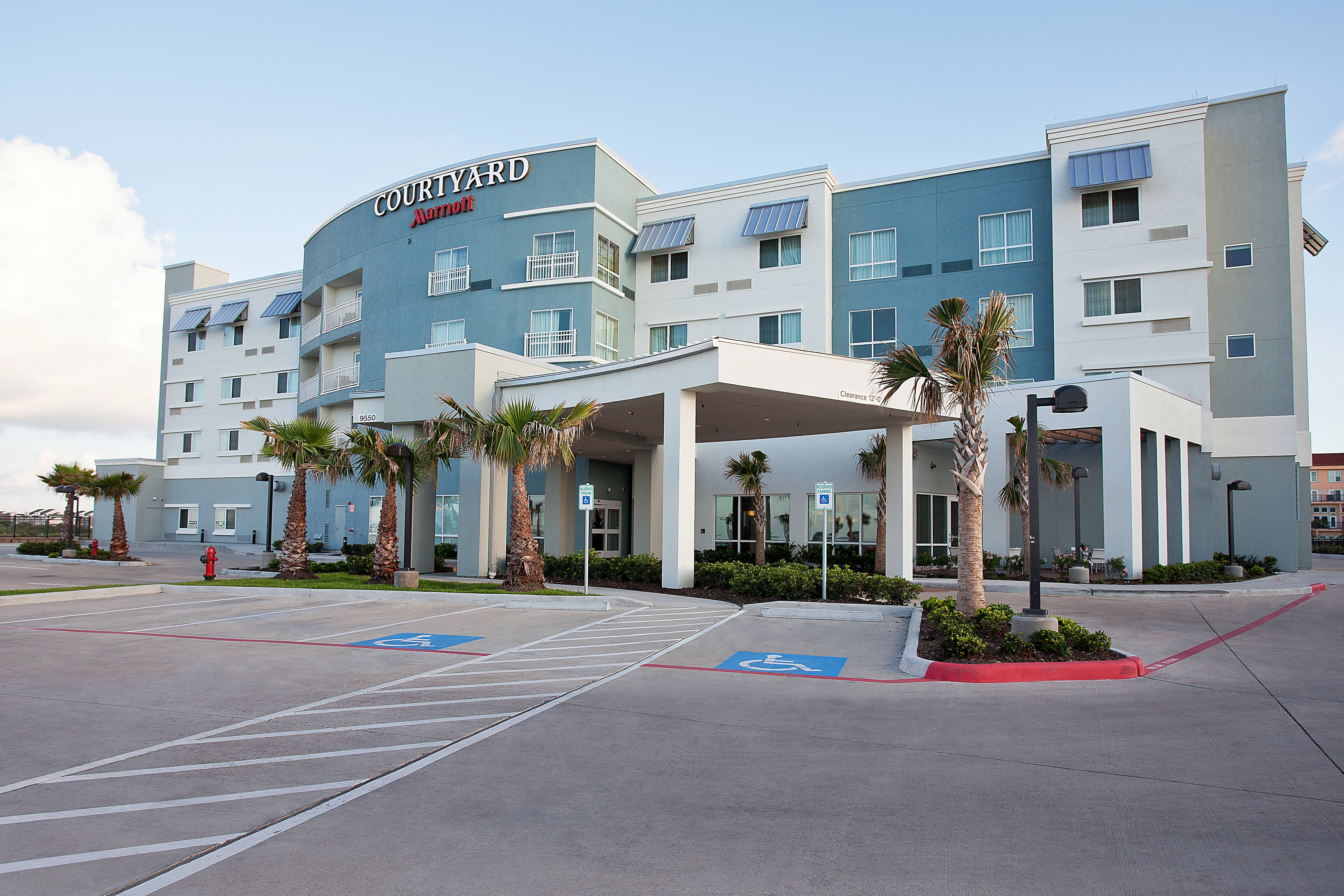 Galveston oceanfront hotel entrance