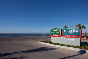 Galveston beach hotel front entrance