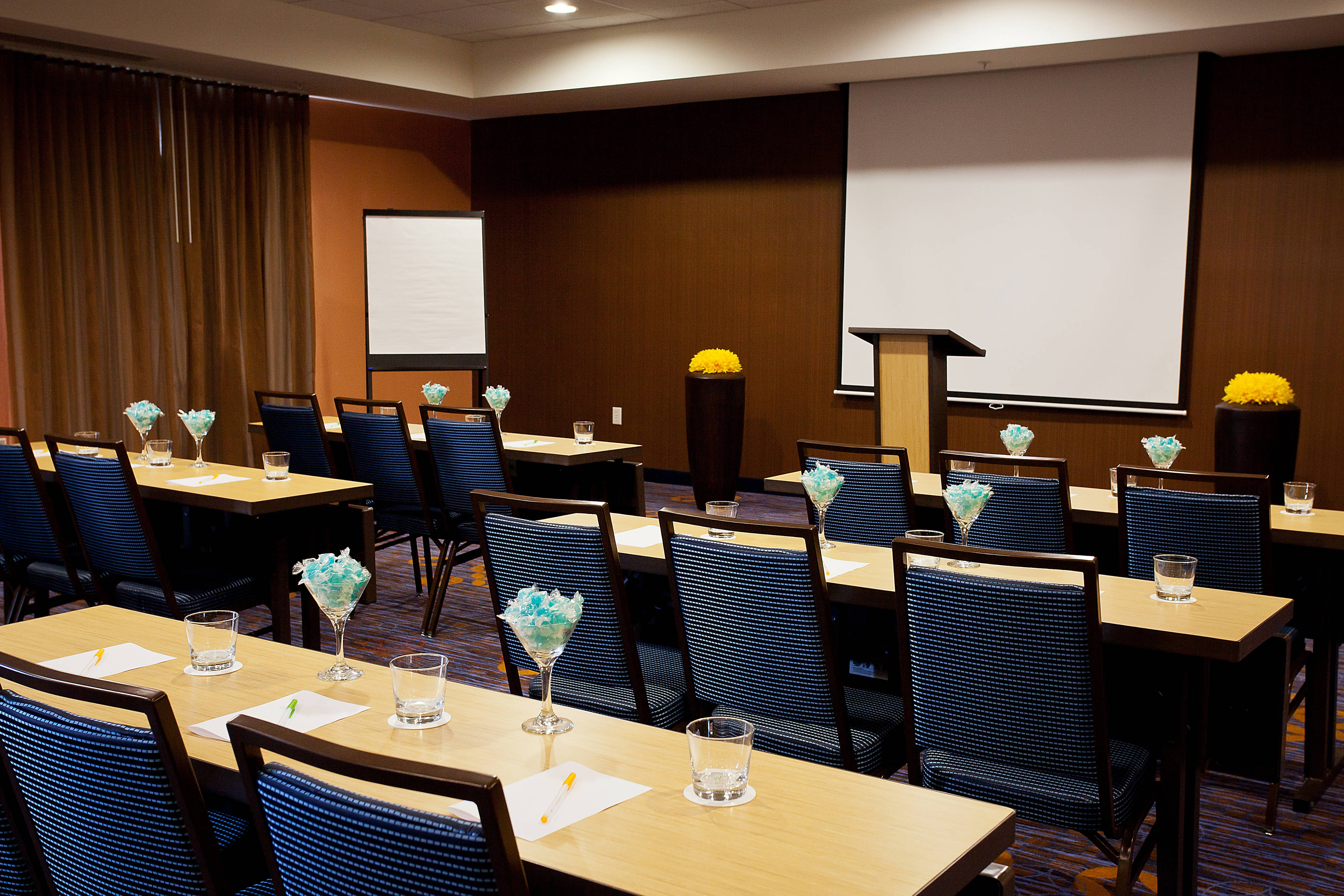 Galveston beachfront hotel meeting room