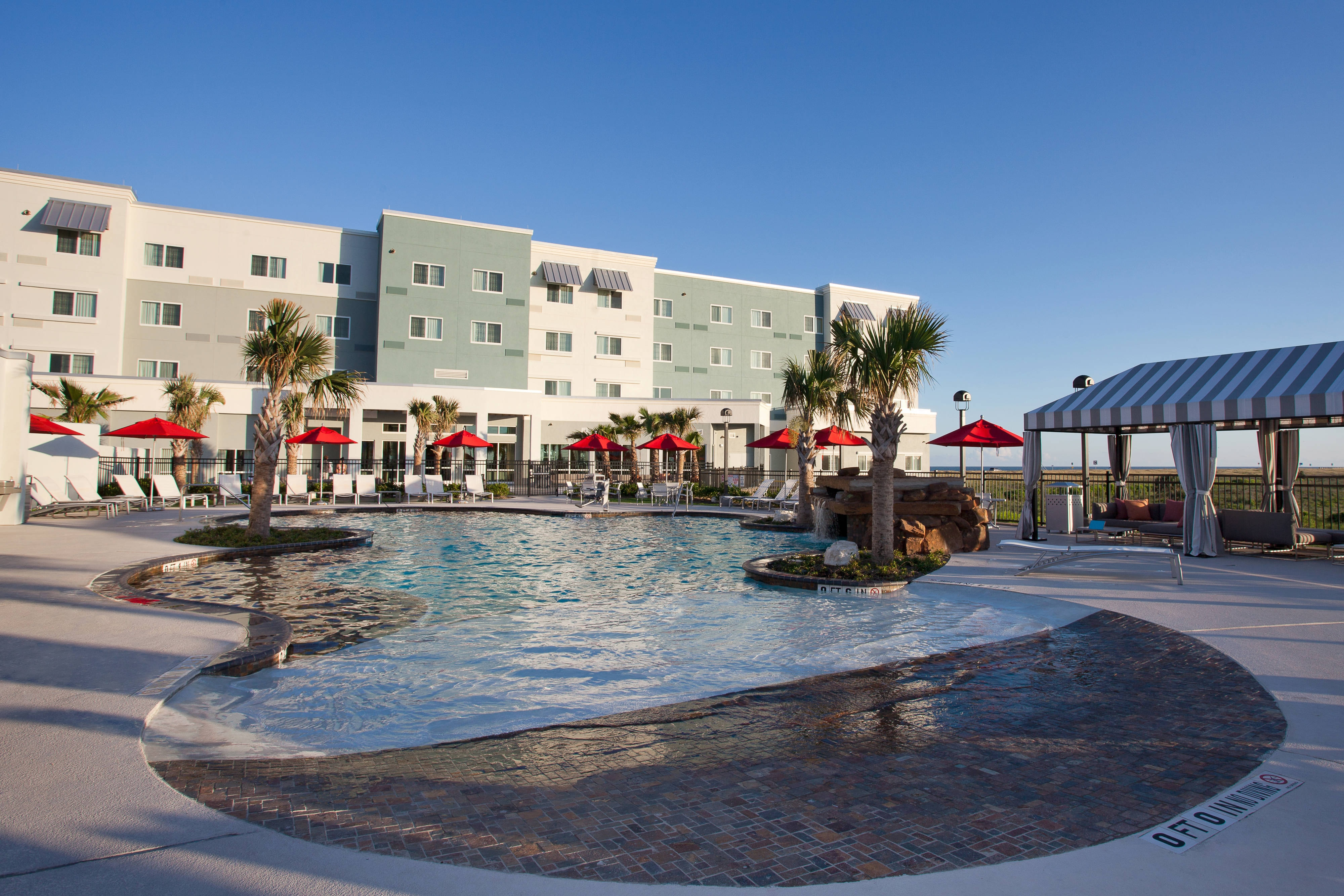 Hotel outdoor pool Galveston Island