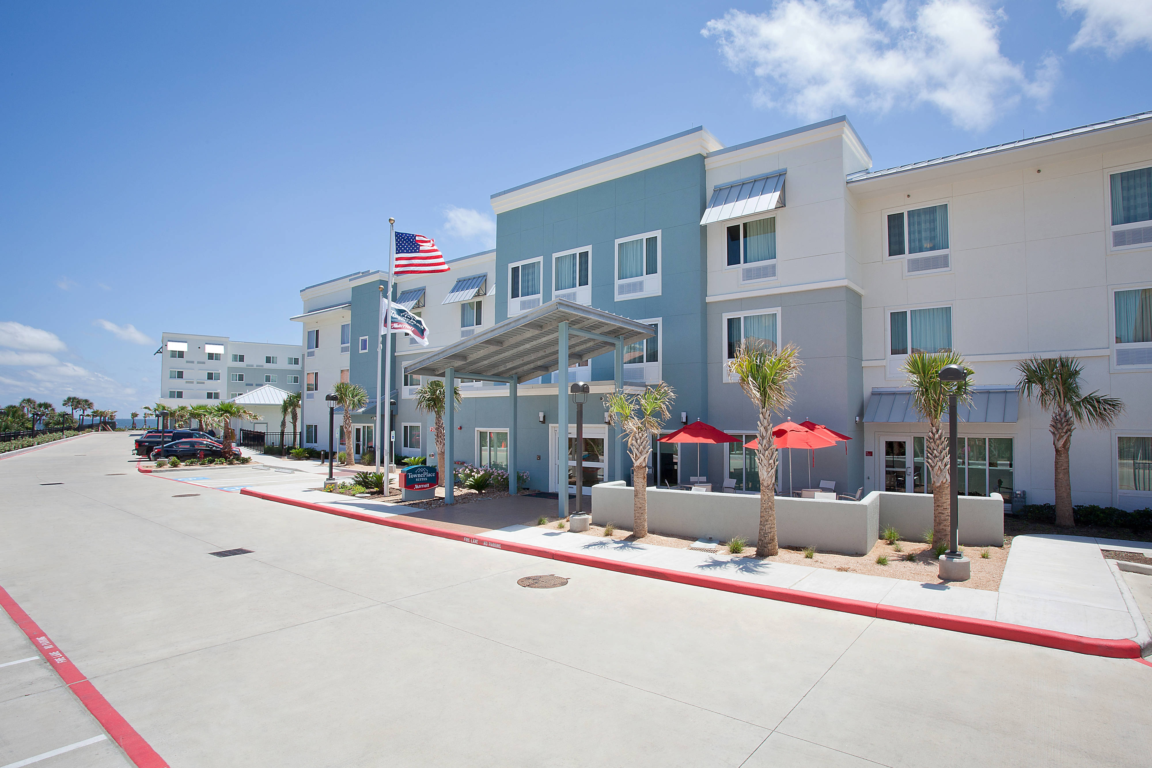 Galveston extended stay hotel exterior