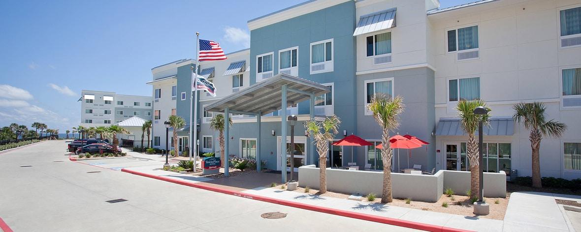 Galveston extended stay hotel exterior