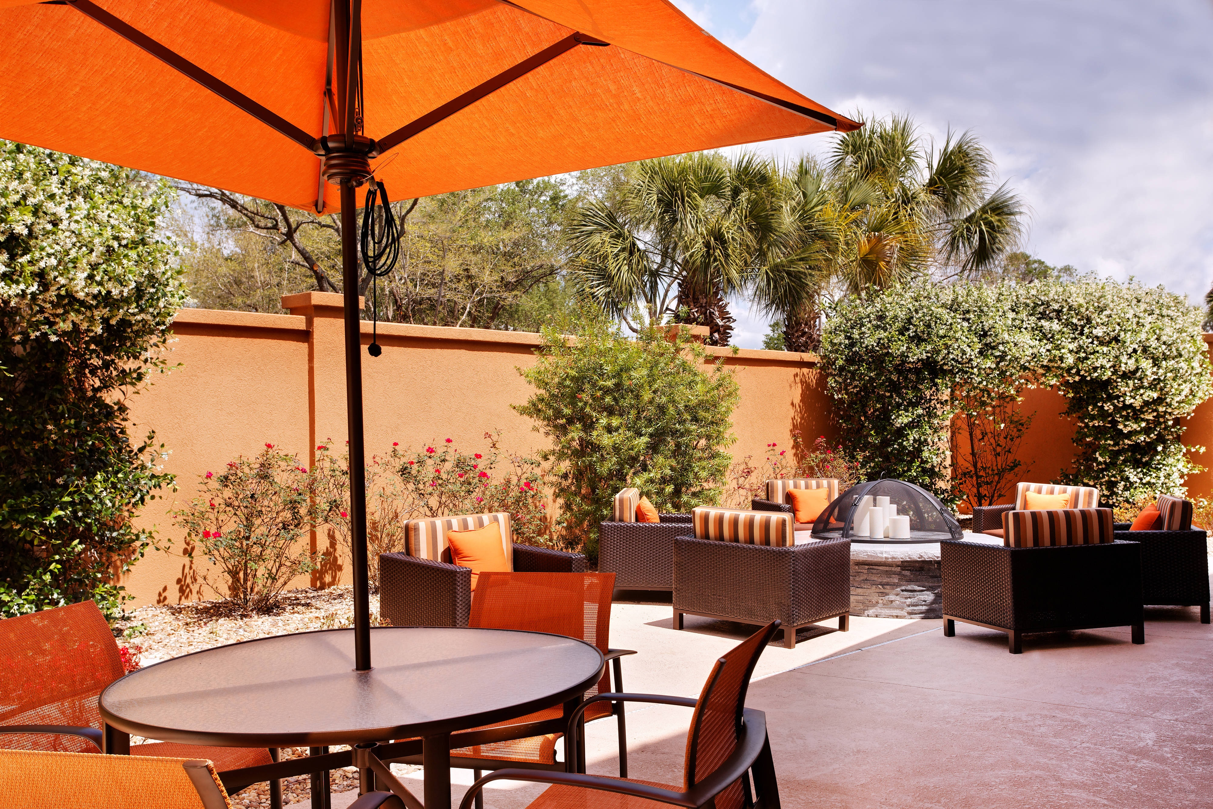 hotel patio in gainesville