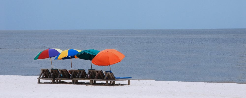ミシシッピ州ガルフ・コーストのビーチ