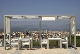 Terrace with marvellous views in Gerona