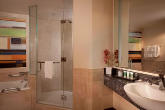 JW Marriott Grand Rapids Guest Bathroom