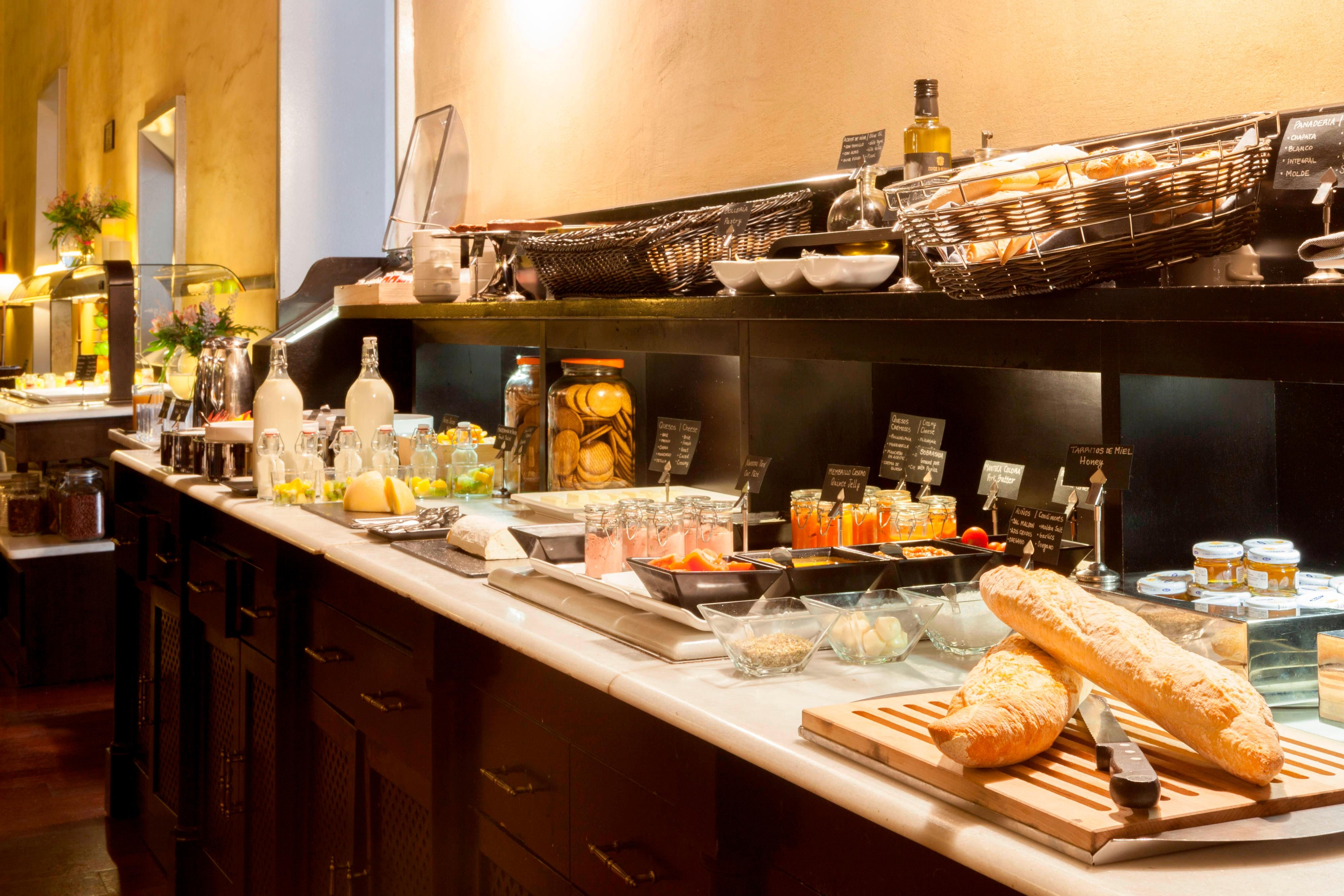 Breakfast buffet in Granada hotel