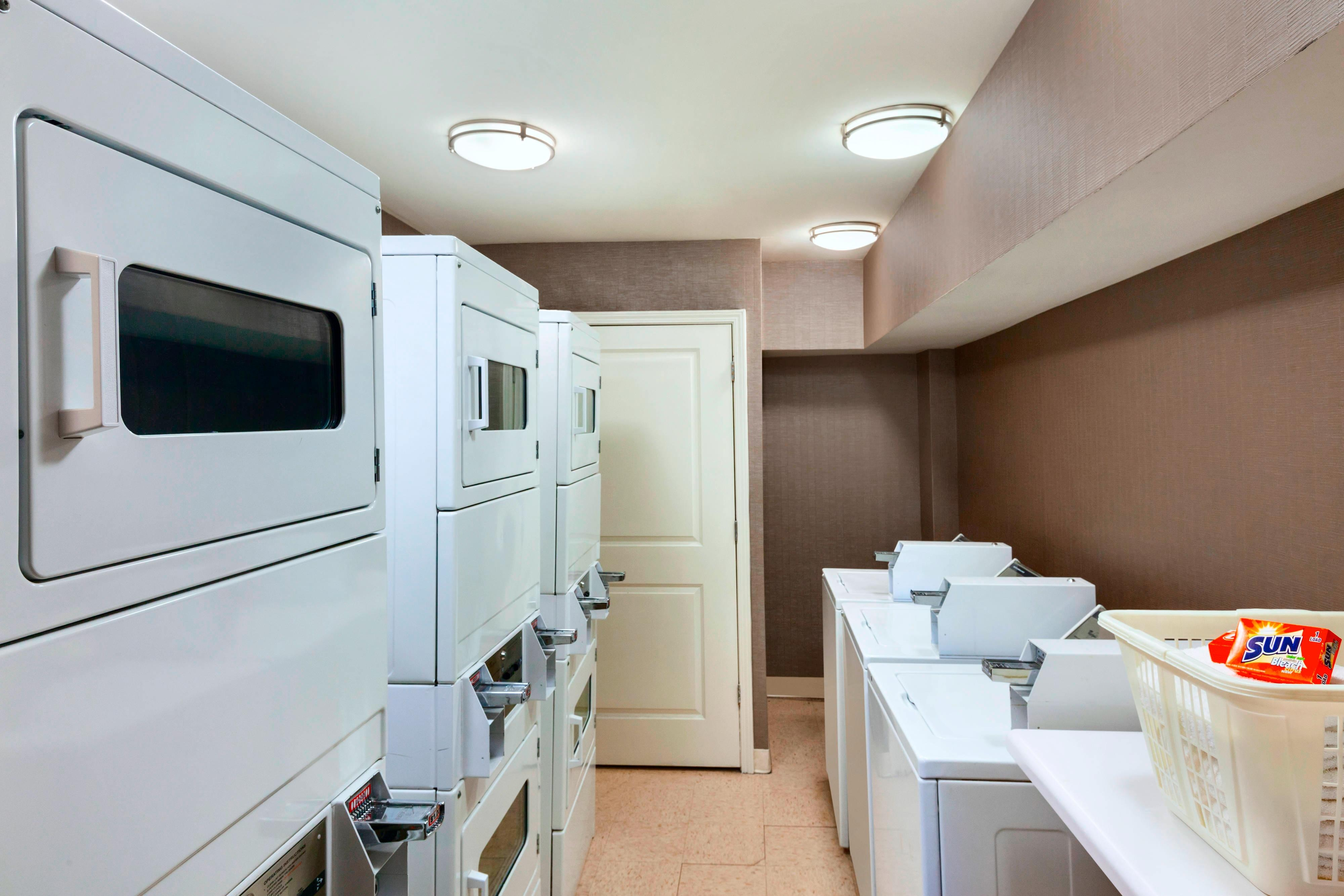 Guest Laundry with coin operated washers and dryers