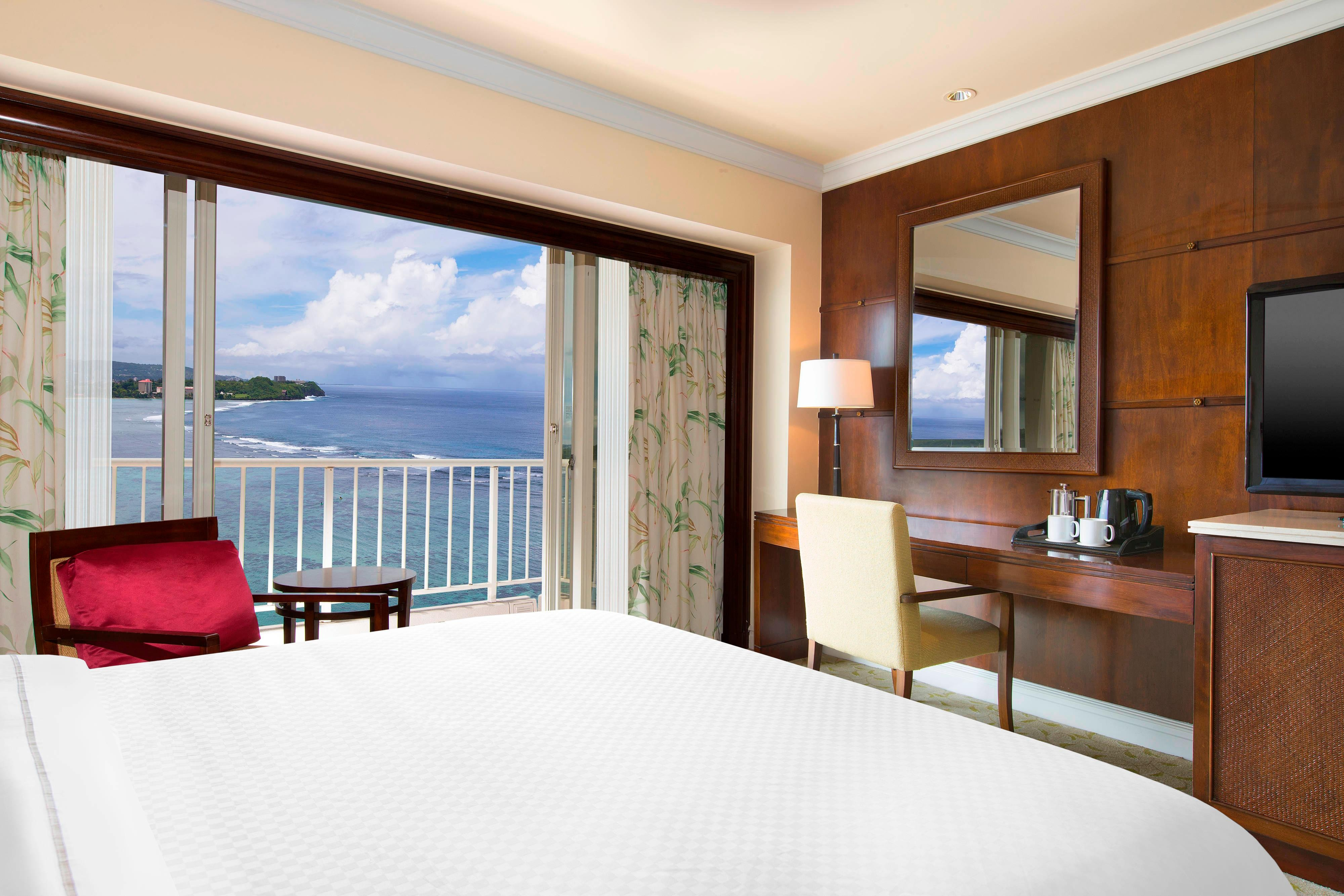One King Bed Guest Room Ocean View