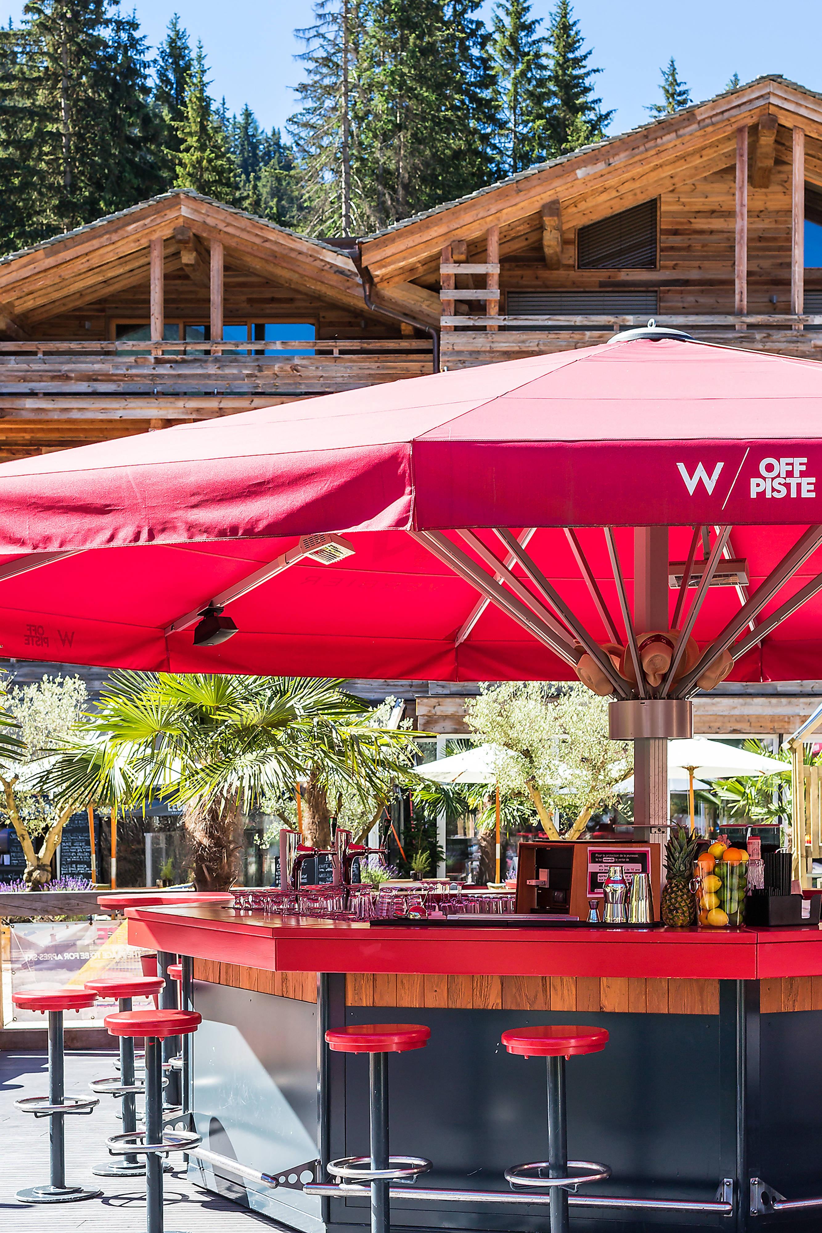 W Off Piste - Bar area in summer