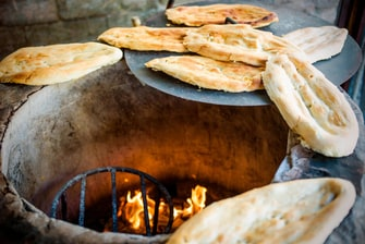 Traditional tandoori bread