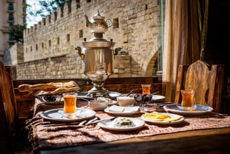 Traditional Azeri Breakfast