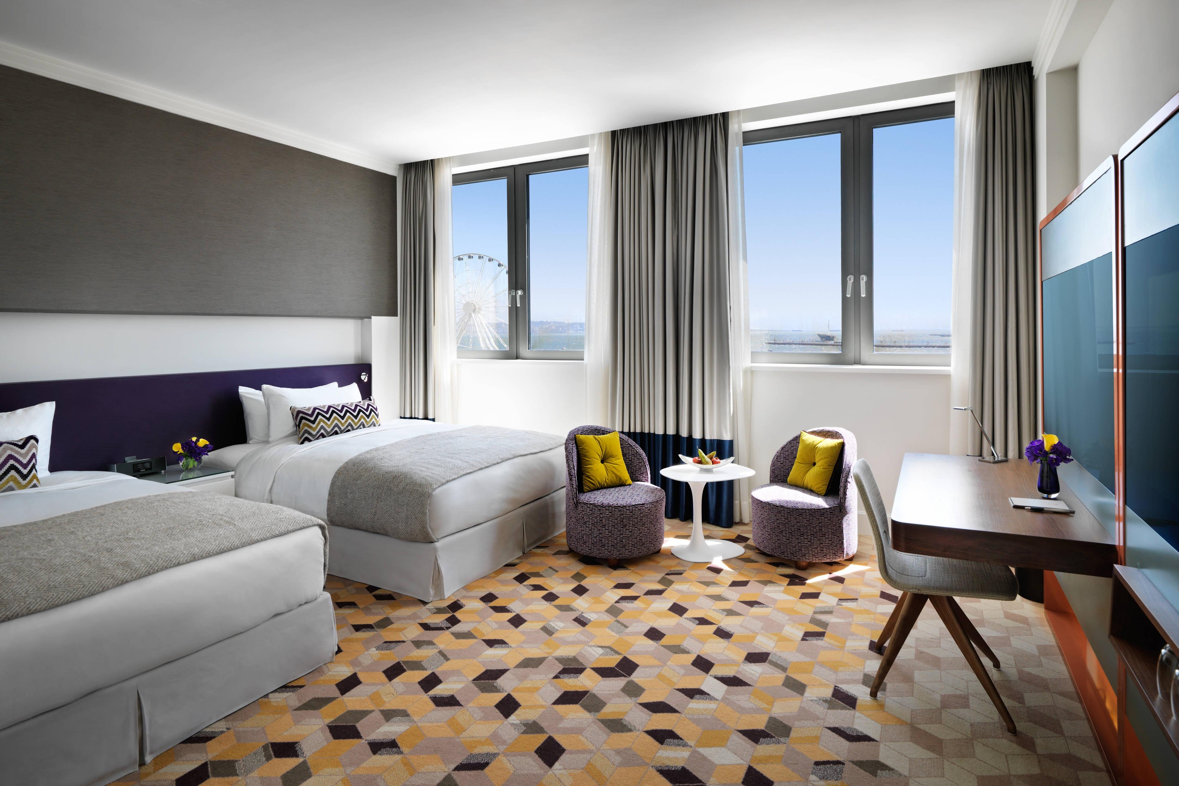 Deluxe-Gästezimmer mit Twinsize-Betten