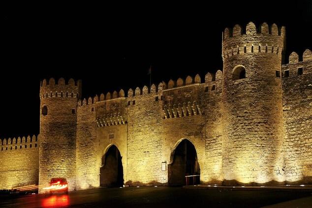 Baku gates to old city