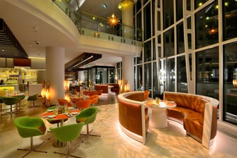 Luxury restaurant in Baku hotel