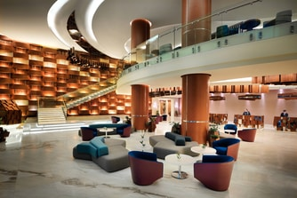 Luxury hotel lobby in Baku