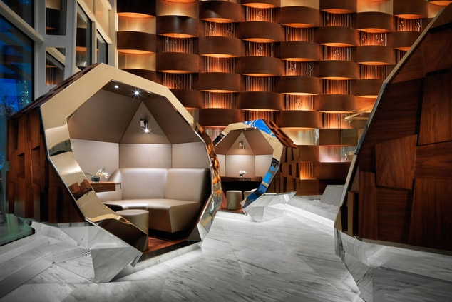 Baku hotel lobby seating