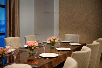 Private dining area at Alpina Restaurant