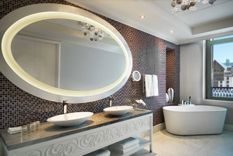Executive Suite Bathroom at Pik Palace Hotel Shahdag