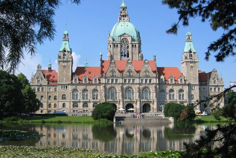 Hannover city center town hall