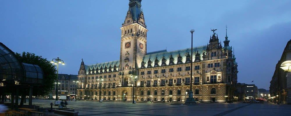 Townhall at city center of Hamburg