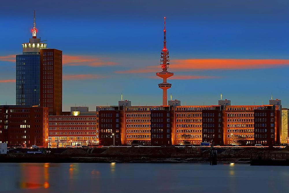 Television tower of Hamburg Germany
