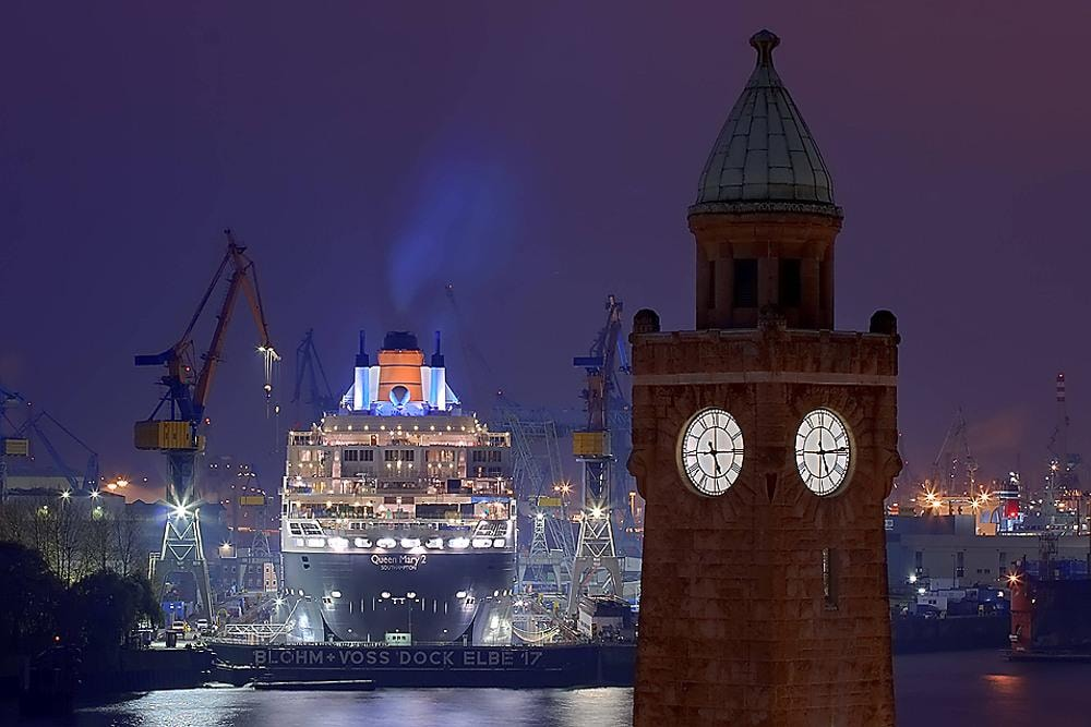 Harbor of Hamburg Germany