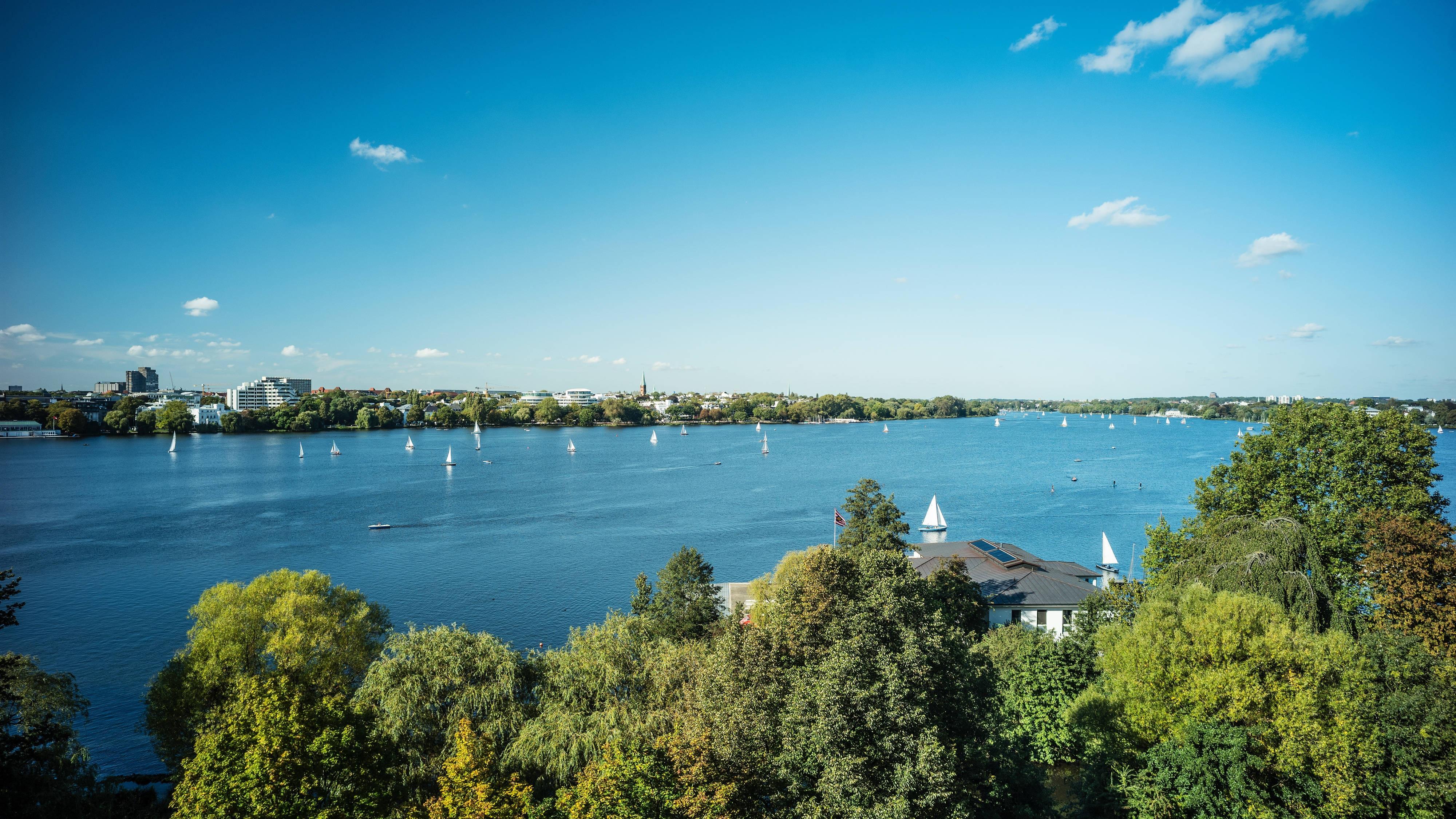 Alster Lake Impressions Hamburg