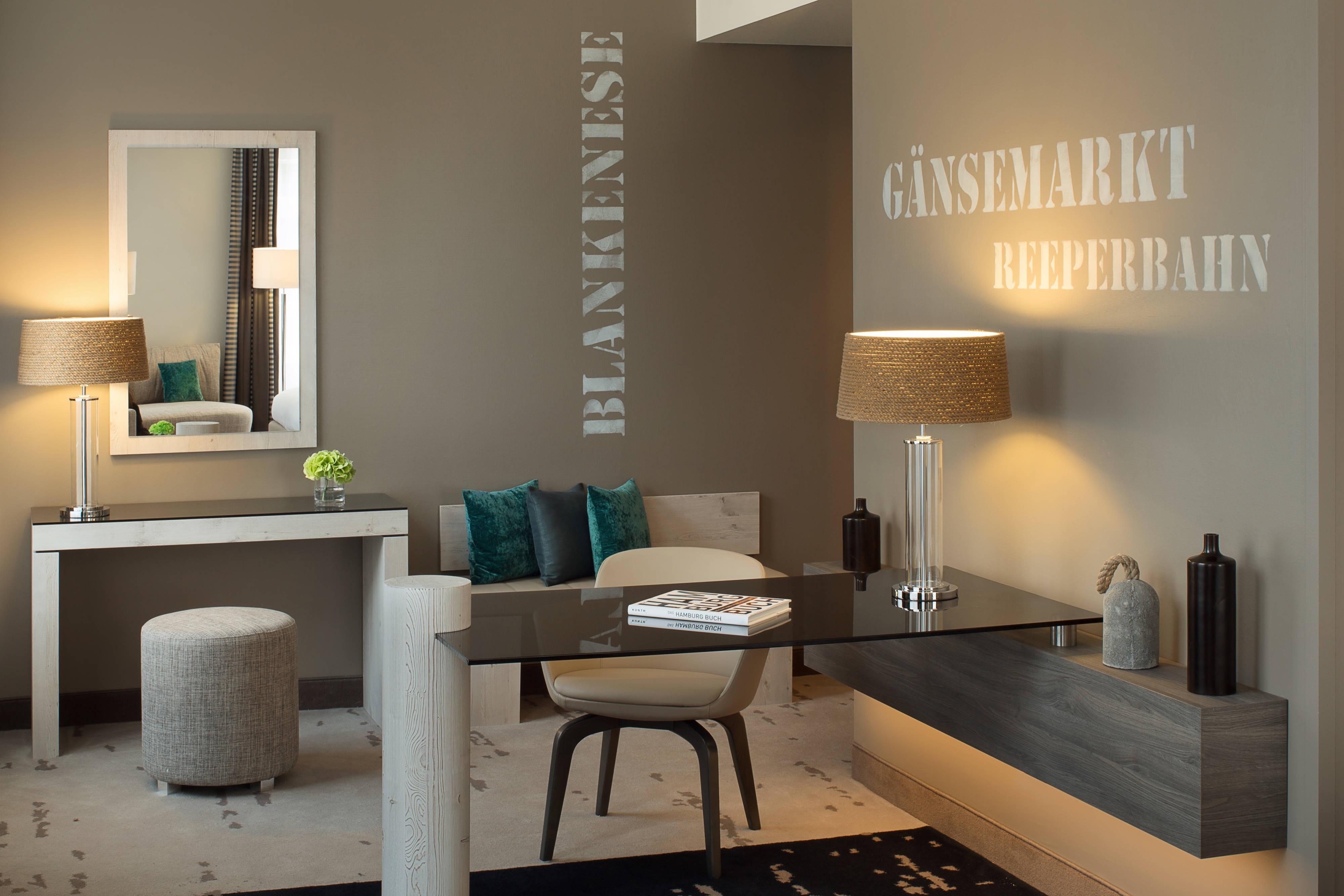 Ausstattung einer Suite in Hotel in Hamburg
