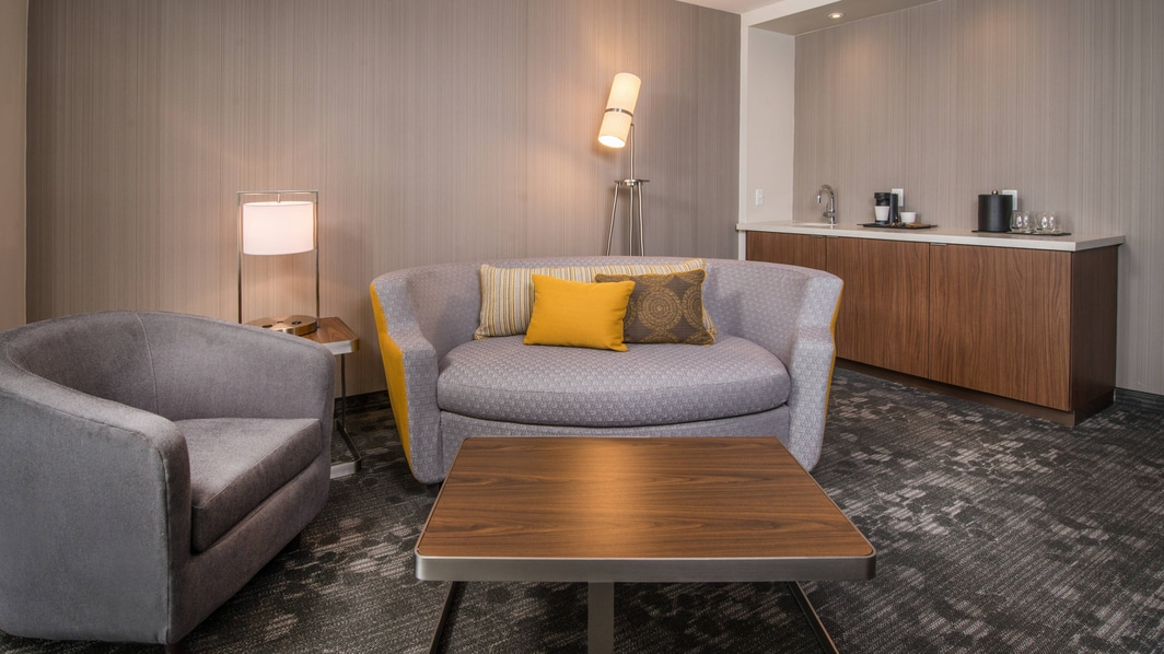 Shippensburg Universirty Hotel Guest Room Seating Area