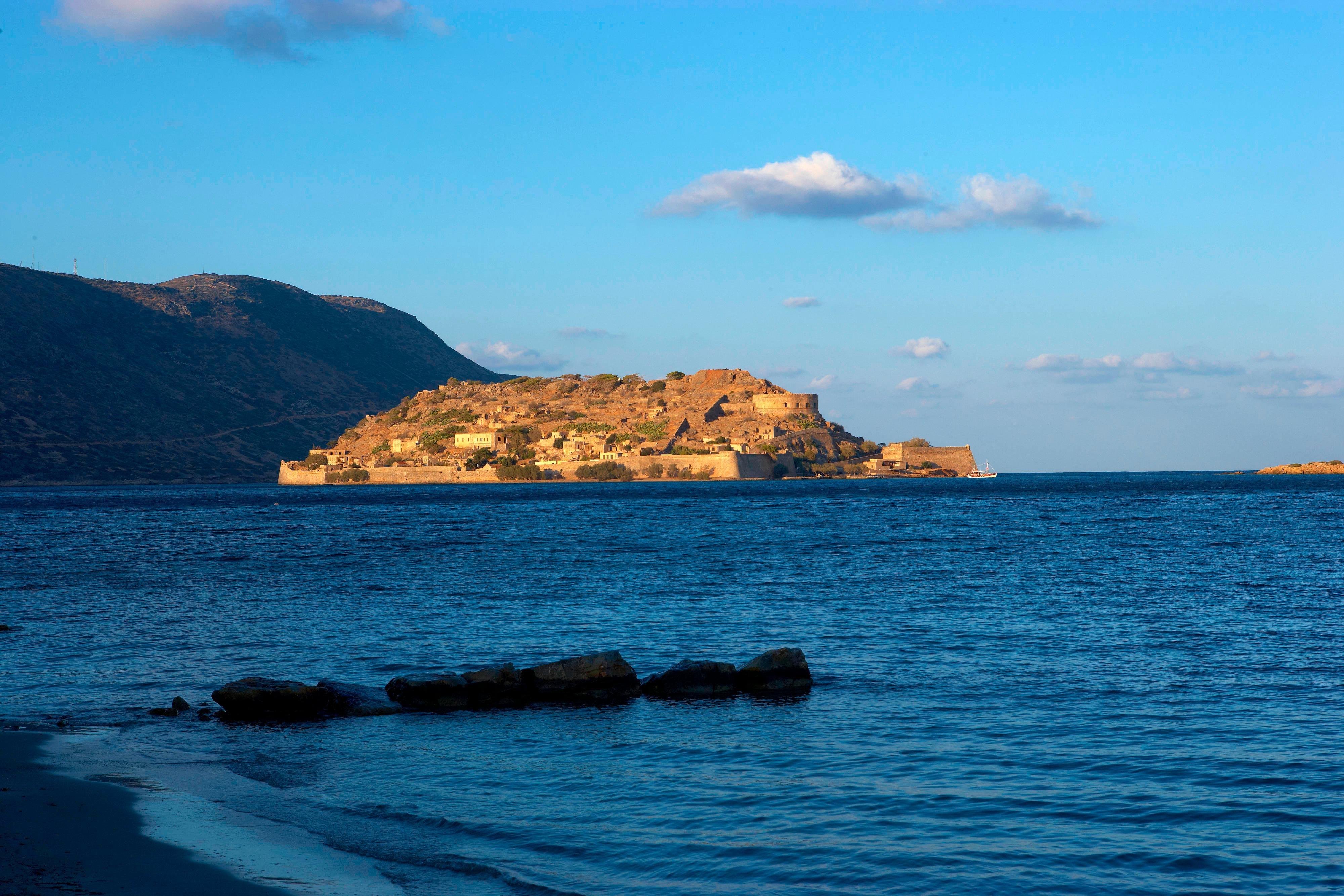 Spinalonga Island opposite the resort