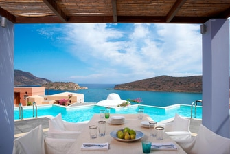 Ultraluxe Three-Bedroom Villa Terrace with Spinalonga Views