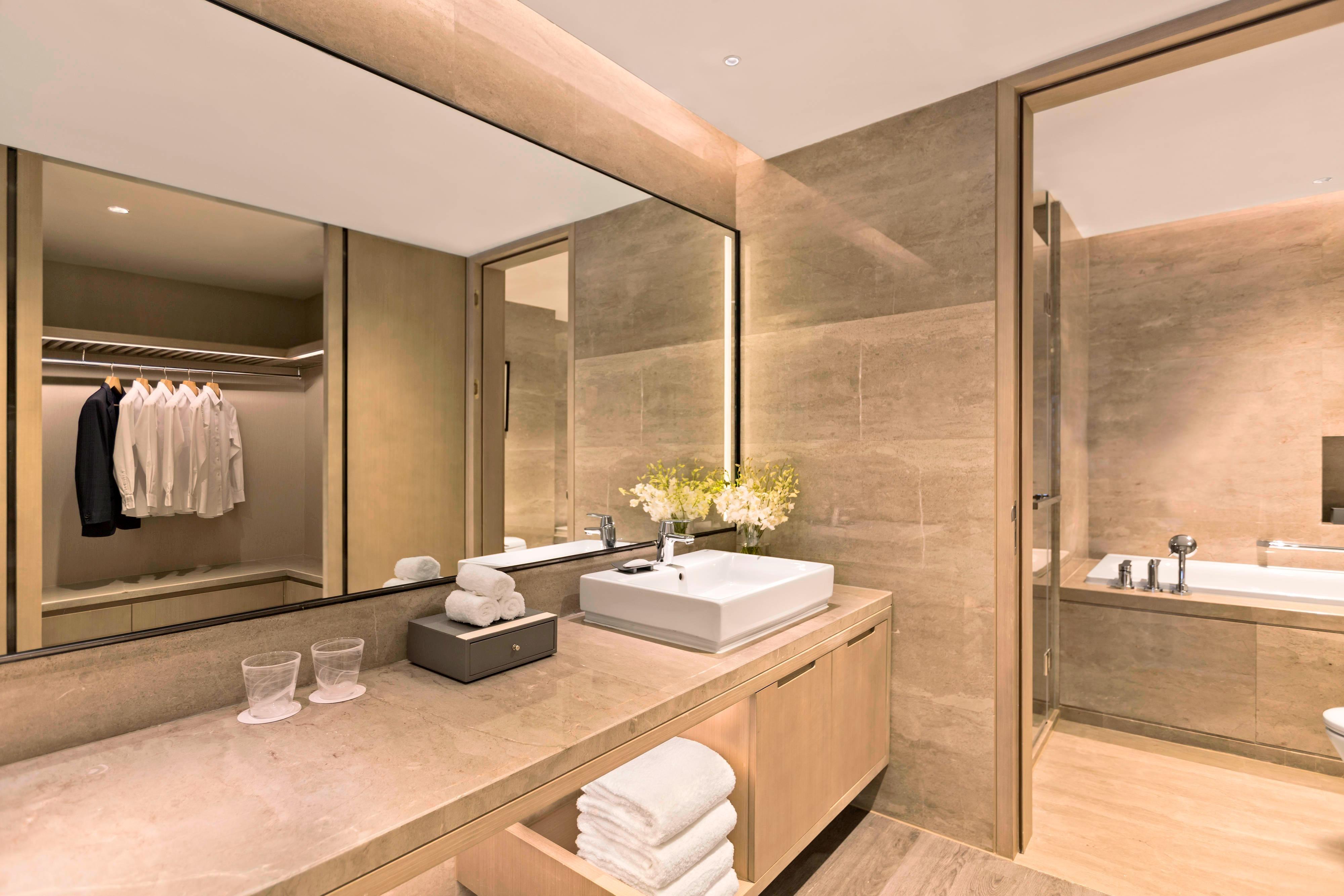 Appartement à unechambre: salle de bain