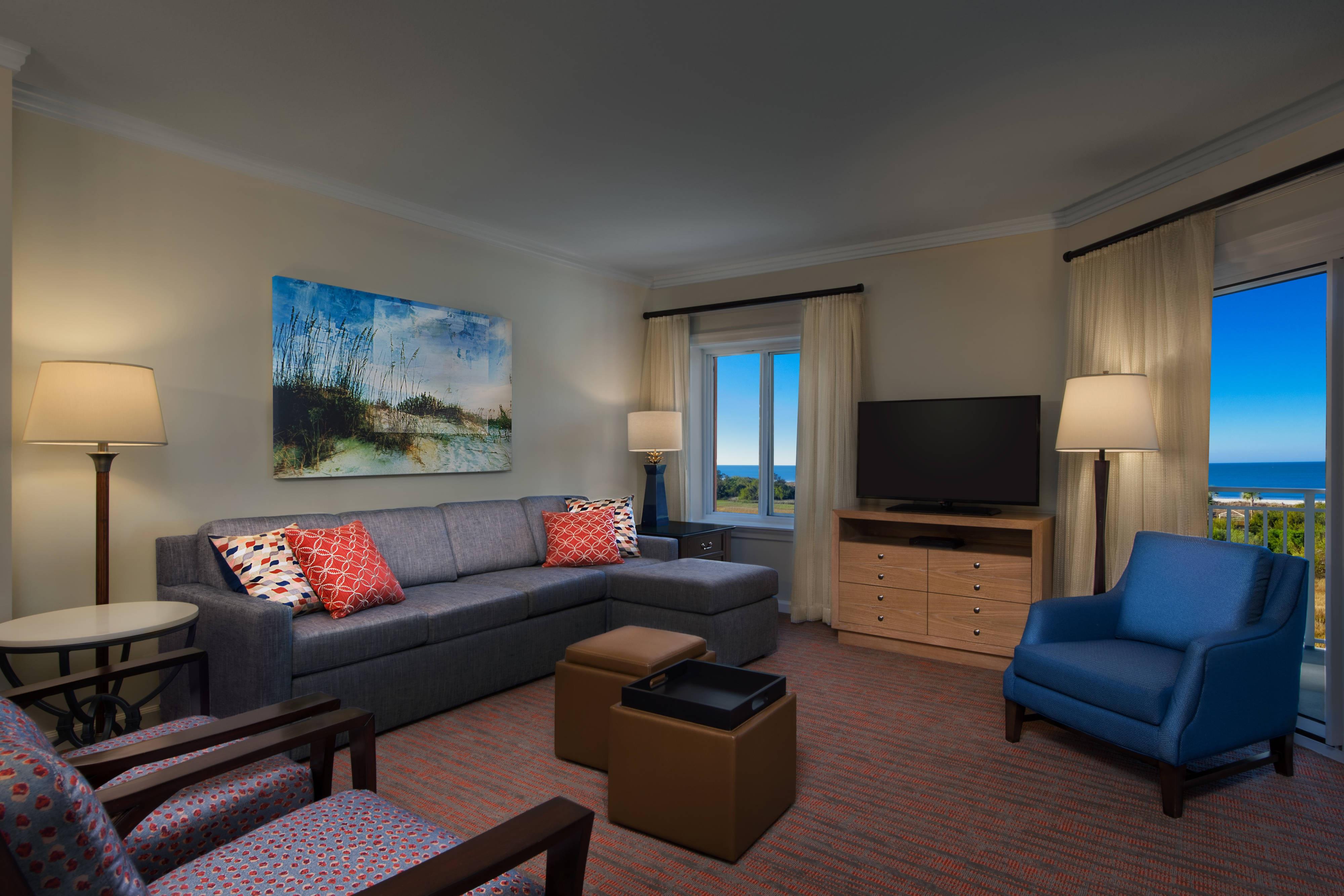 Partial Ocean View Villa - Living Room