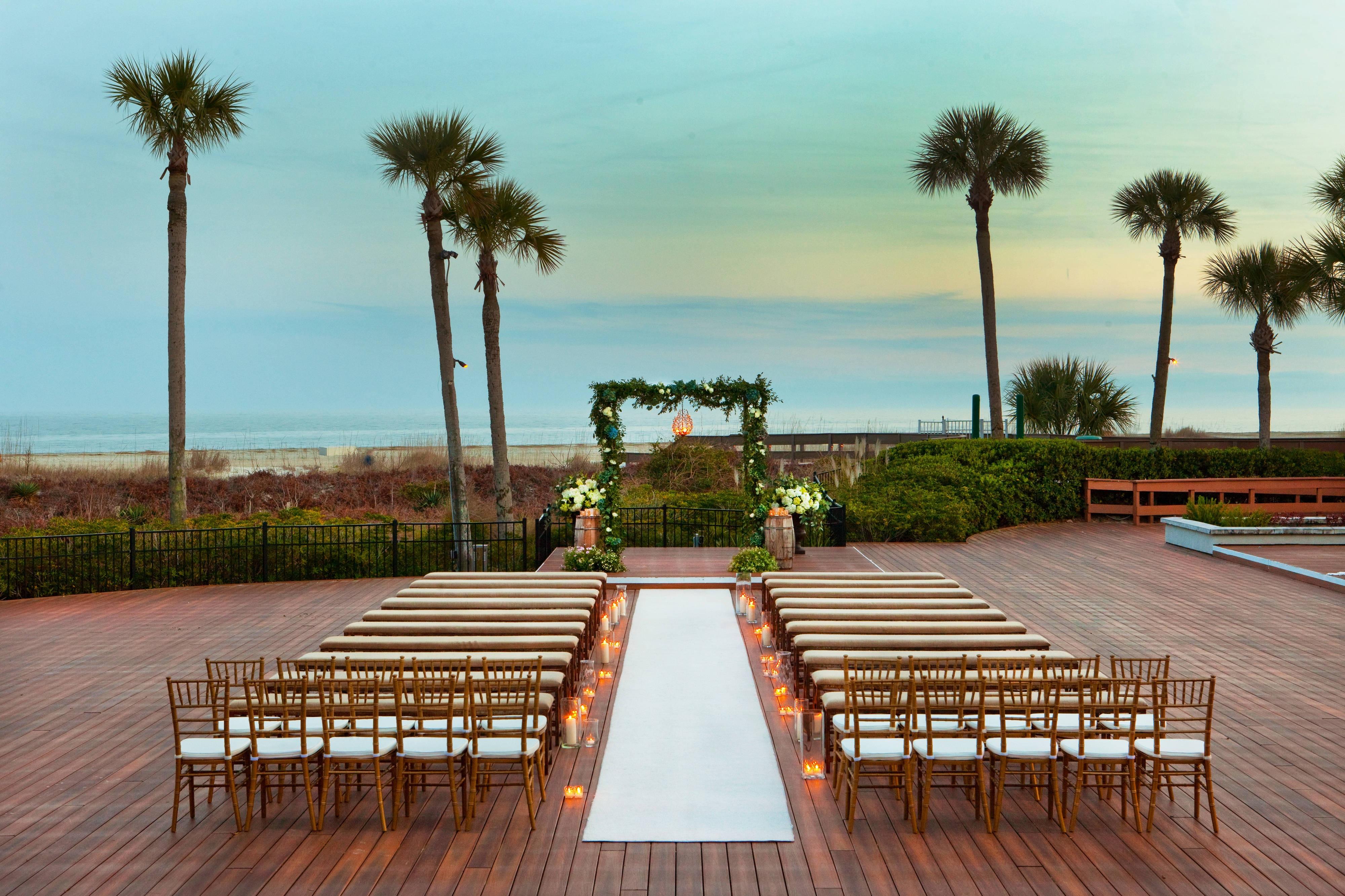 Oceanfront Deck  Wedding