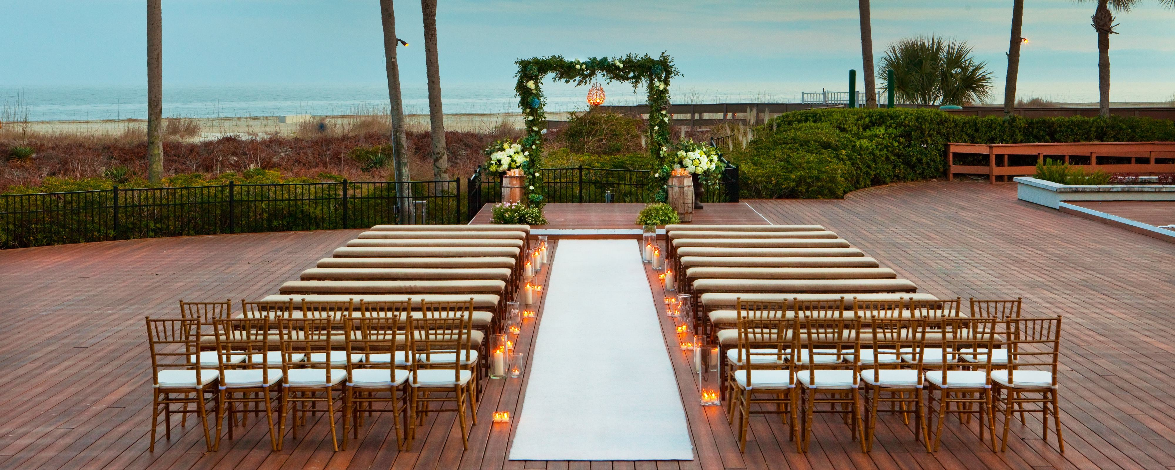 Oceanfront Deck  Wedding