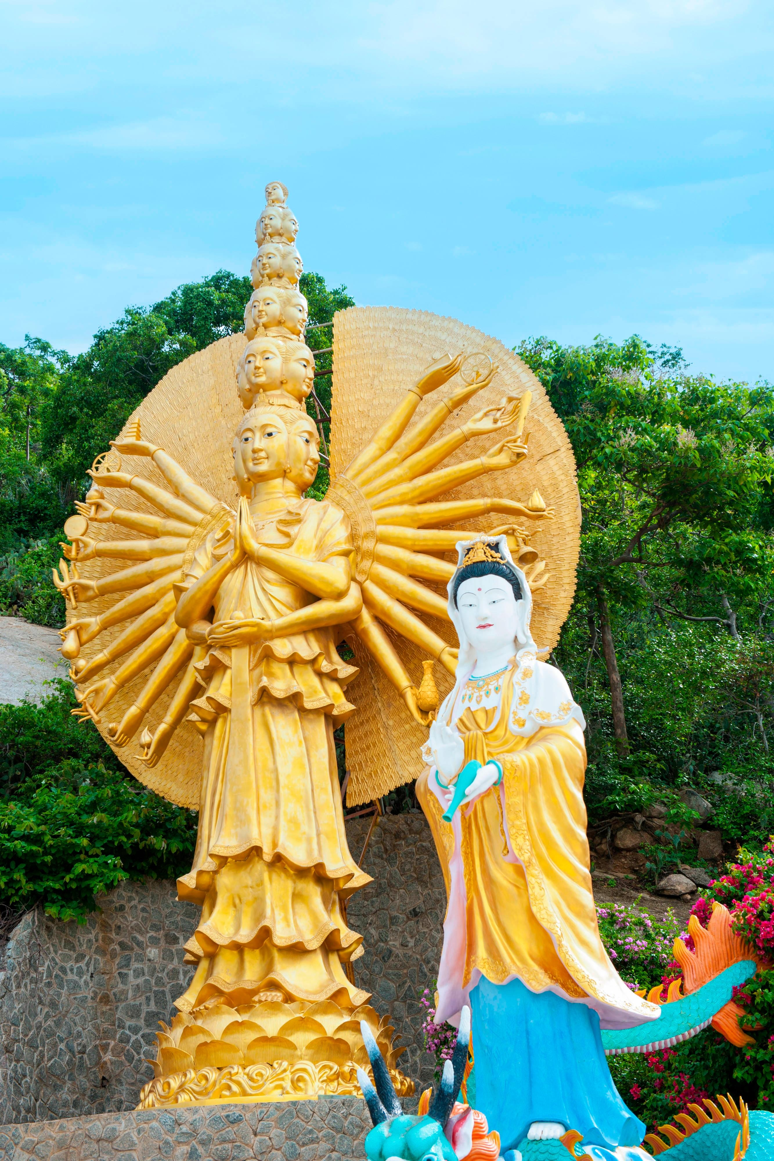 Thousand Armed Buddhist Goddess Guan Yin at Khao Takiab Temple