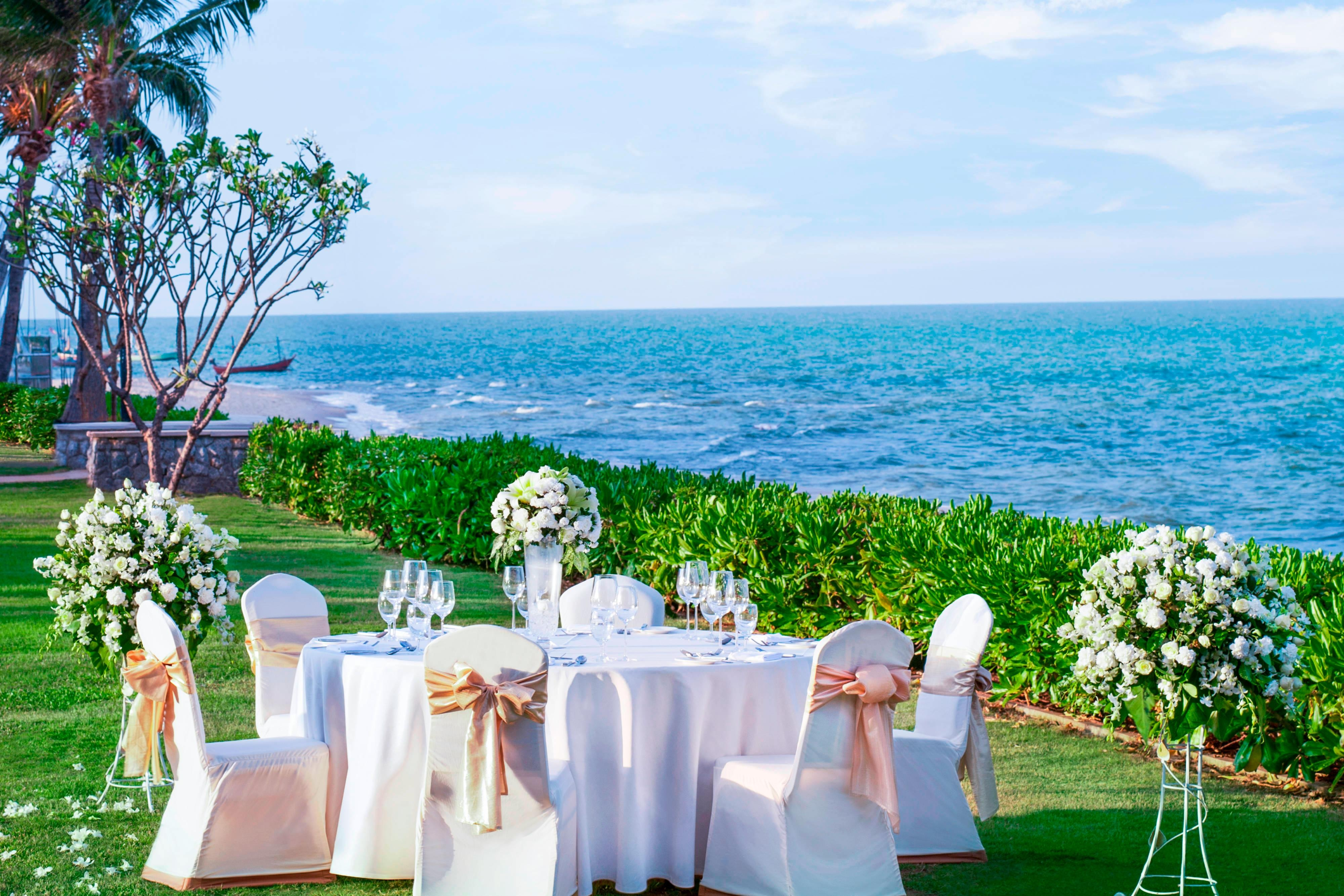 Wedding Reception by the Sea
