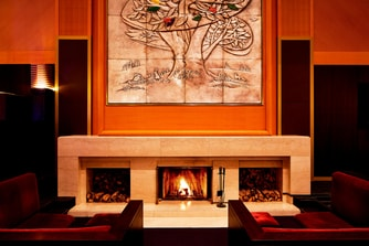 Lobby Lounge Fireplace
