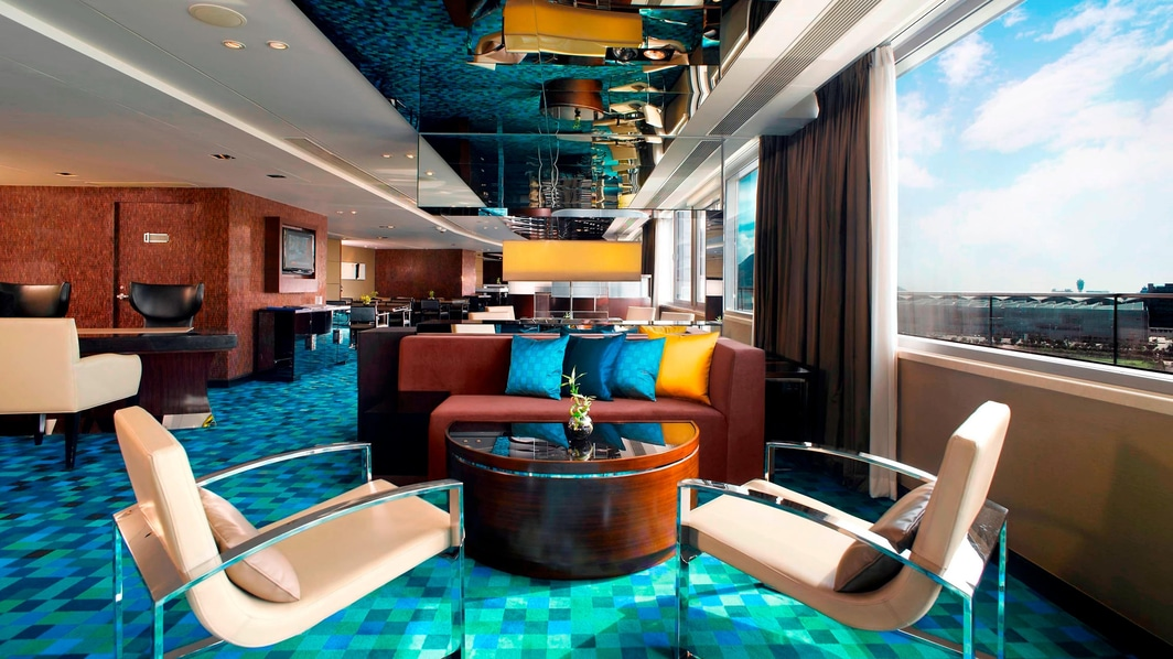 Lounge executivo do hotel em Hong Kong