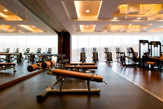 Hong Kong hotel fitness center