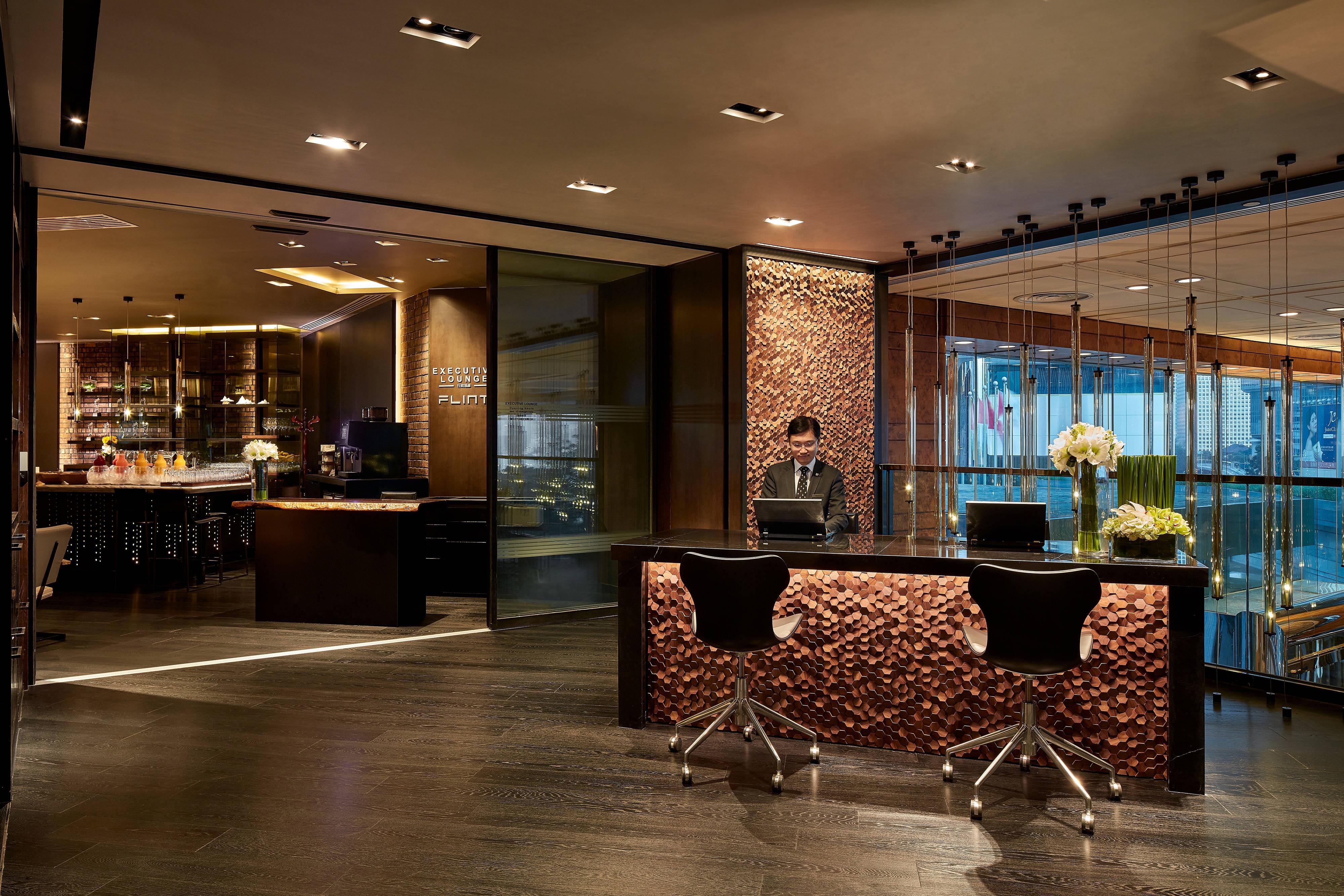 Lounge executivo - Recepção
