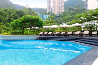 Hotel outdoor swimming pool