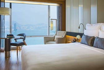 Victoria Harbour view guest room