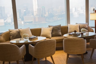 Hong Kong hotel club lounge
