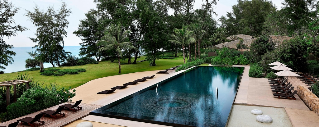 Outdoor pool at Phuket resort