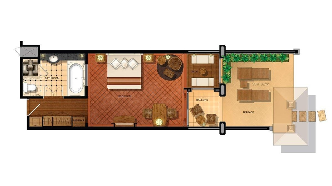 Deluxe Terrace Floorplan