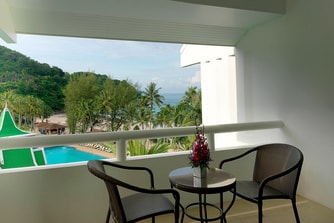 Deluxe Pool View Room Balcony