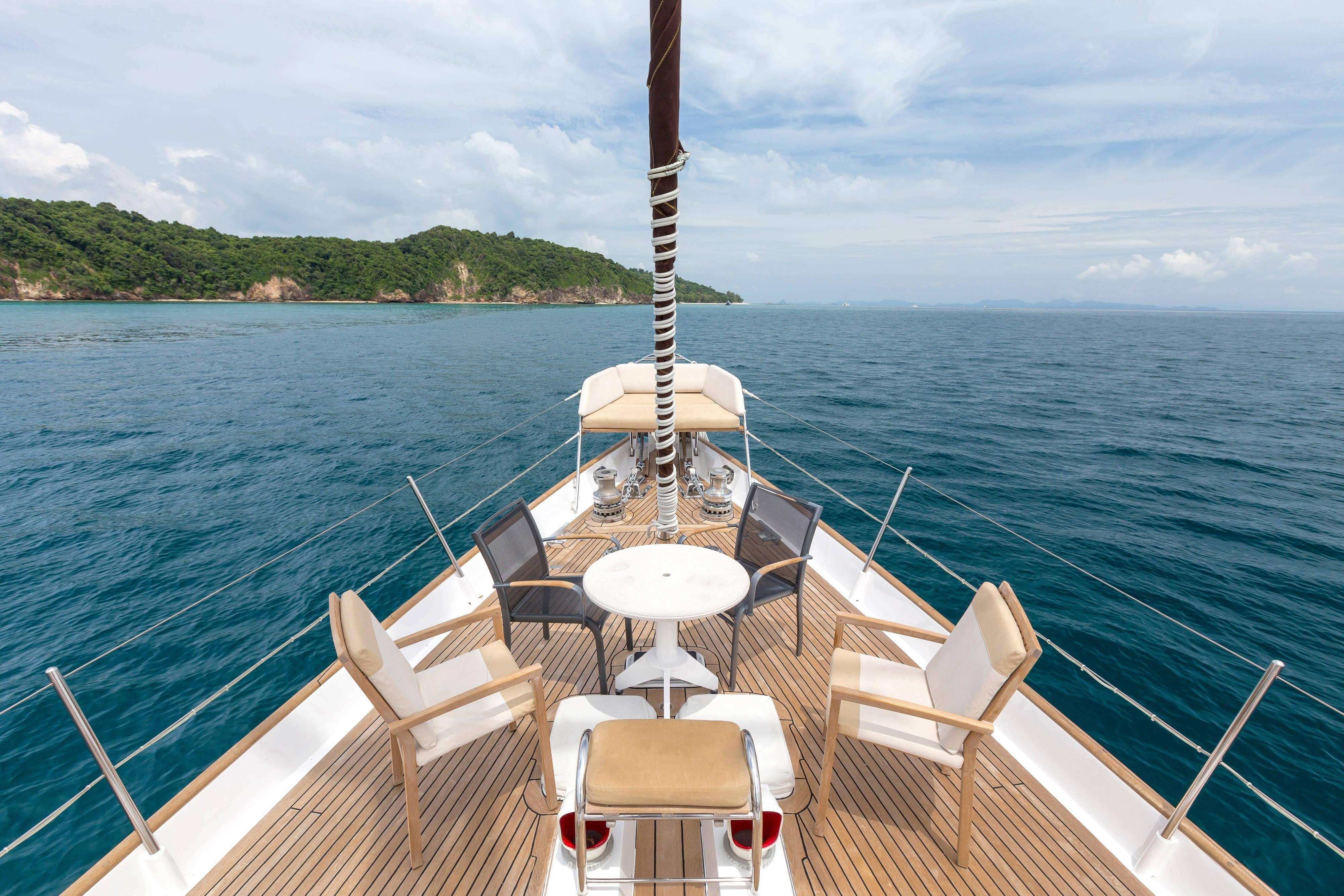 On the Deck of the Yacht Born Free